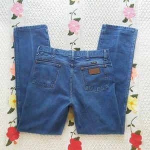 WRANGLER Dark Wash High Rise Relaxed Jeans 34
